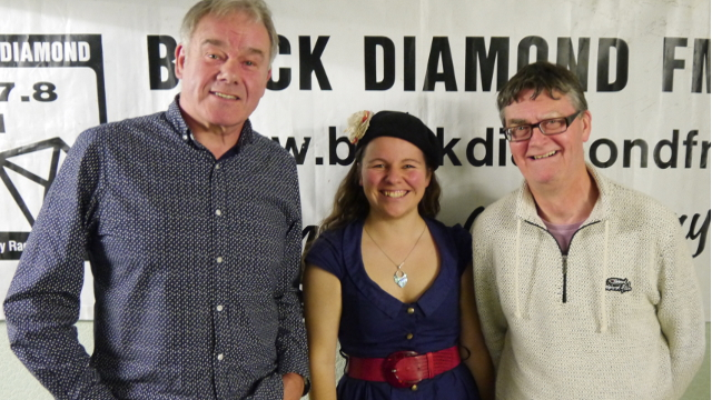 Ian and David from Flagstaff with Rachel from Black Diamond FM