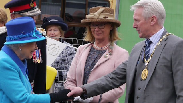 The Queen and dignitaries